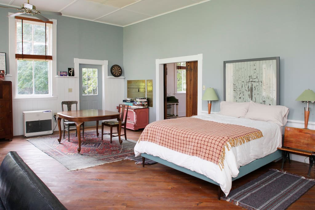 Private bedroom, queen bed shown here