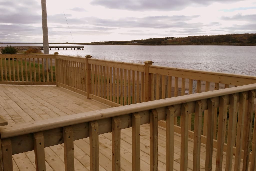Spacious deck to barbq with friends or read a book while watching the sunset