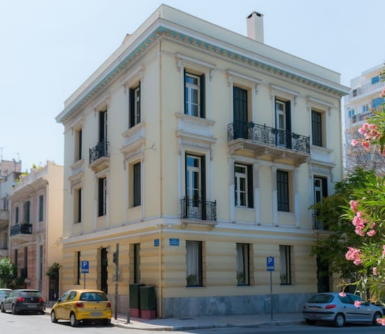Neo-classical building- The apartment from the outside
