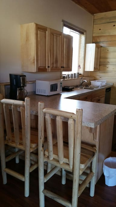 Counter top with chairs