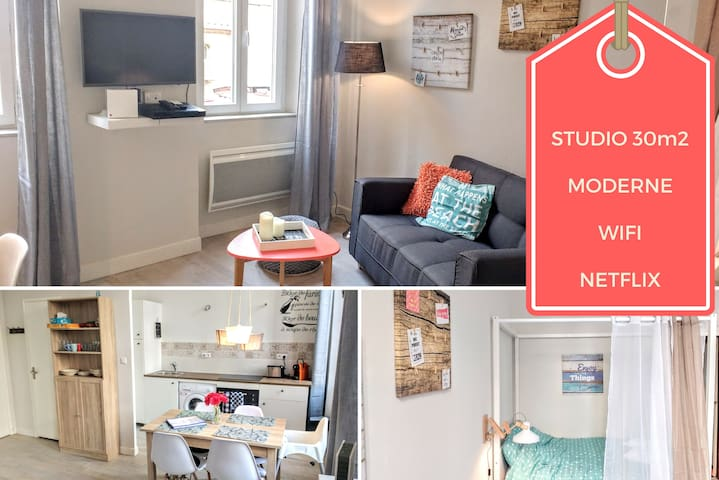 ★ Modern Studio ★ Walk Everywhere | Parking - Marseille - Huoneisto