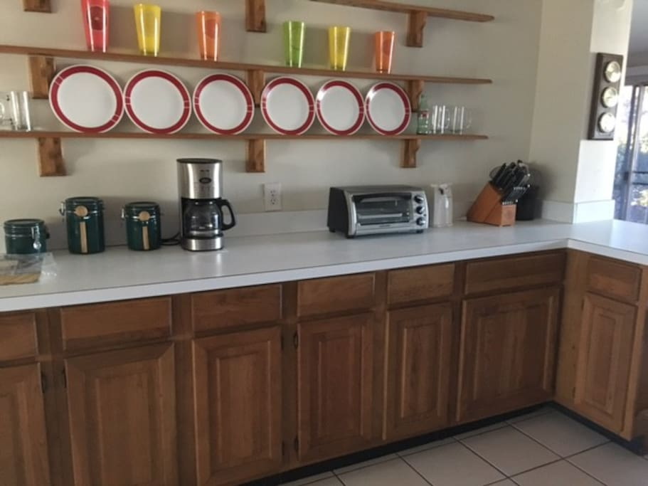 Coffee/Breakfast station in Kitchen