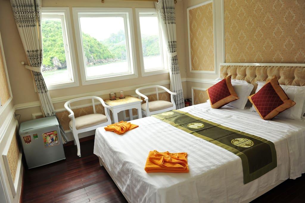 Cozy bedrooms and luxury on Yacht C.jewel