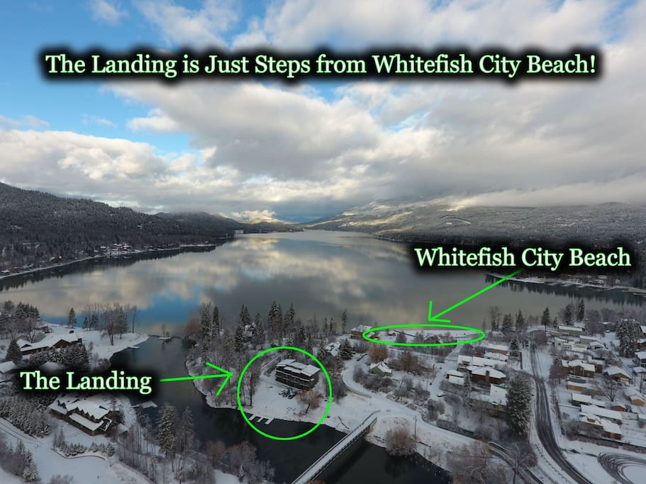 The Landing is Literally Just Steps from the Famous Whitefish City Beach
