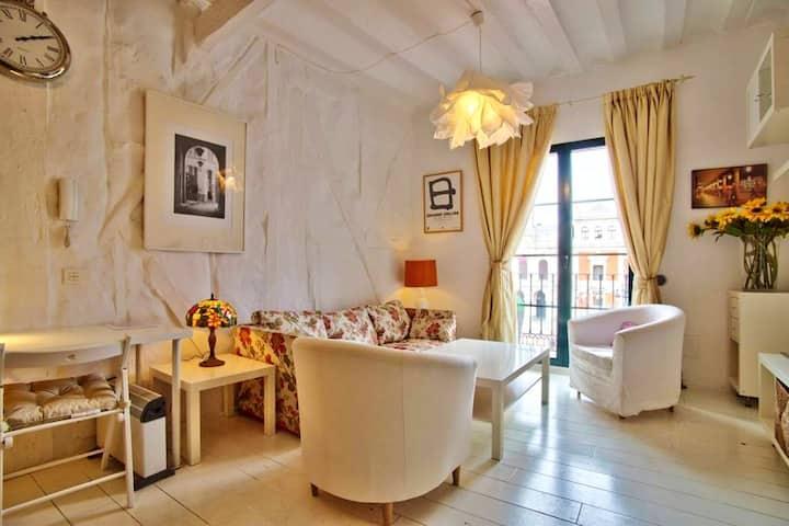 Wohnung mit einem Schlafzimmer in Valladolid, Puerta B mit schöner Aussicht auf die Stadt, Balkon und W-LAN
