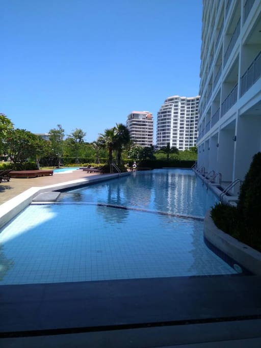Swimming pool at Building The Legend