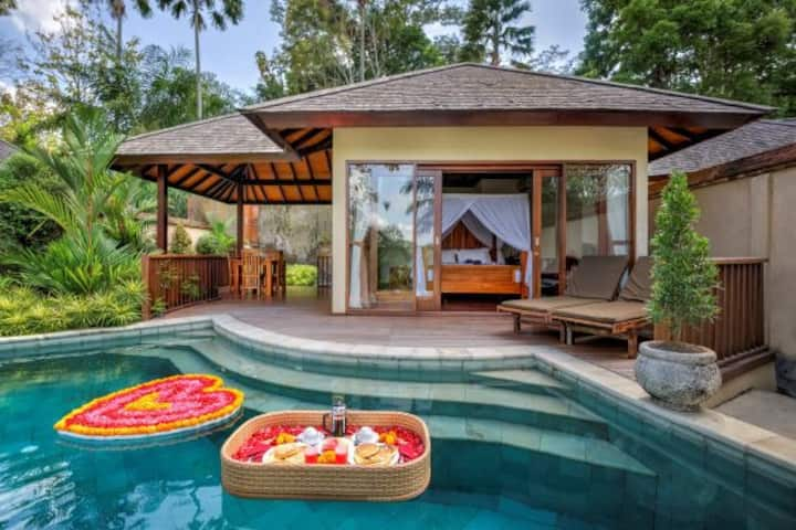 1 bedroom Villa with pool and jungle valley view 1