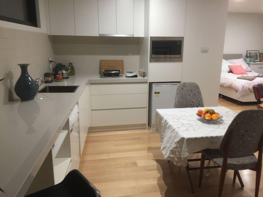 Pleasant kitchen area