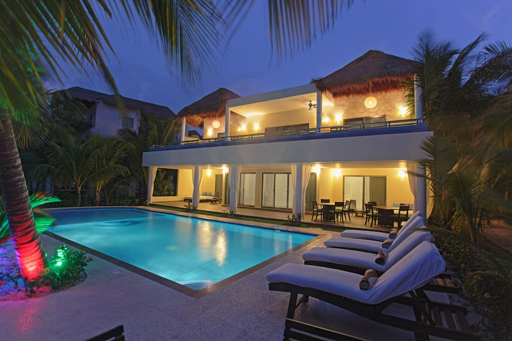 Plenty of seating around the whole pool and in ultra comfortable chairs in the evenings