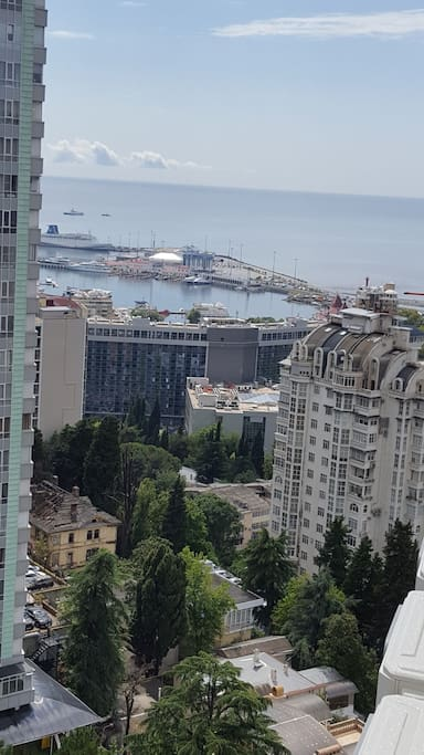 "Вид с балкона ""Морской порт"""
