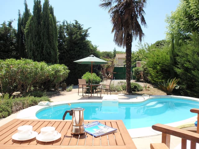 Charming 2 bedroom villa with garden and pool - Ventenac-en-Minervois - Ház
