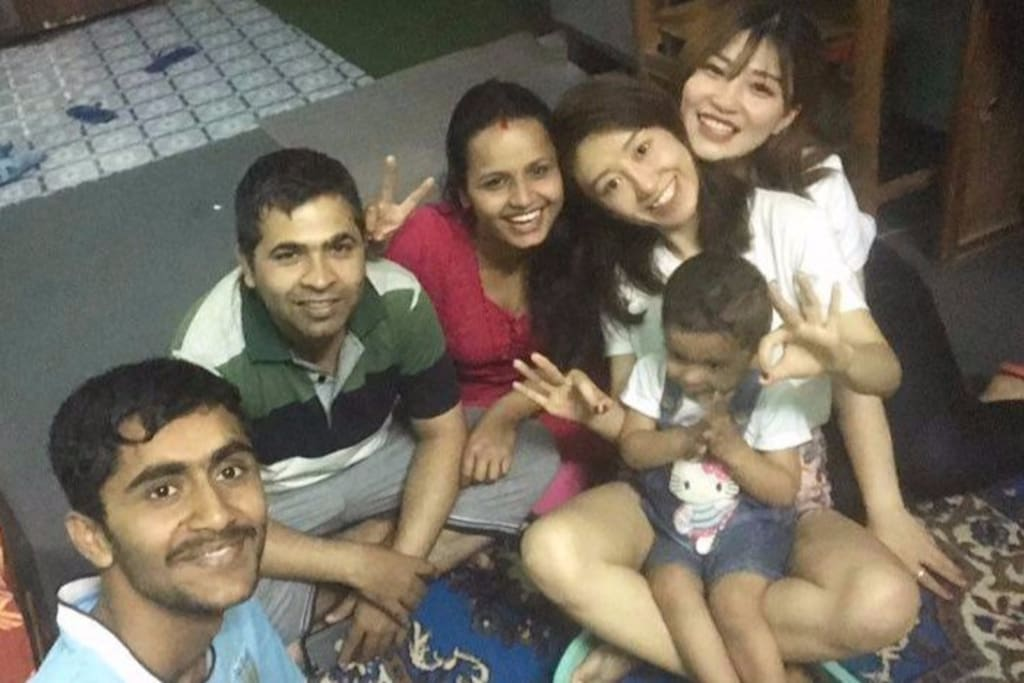 Host family with guest