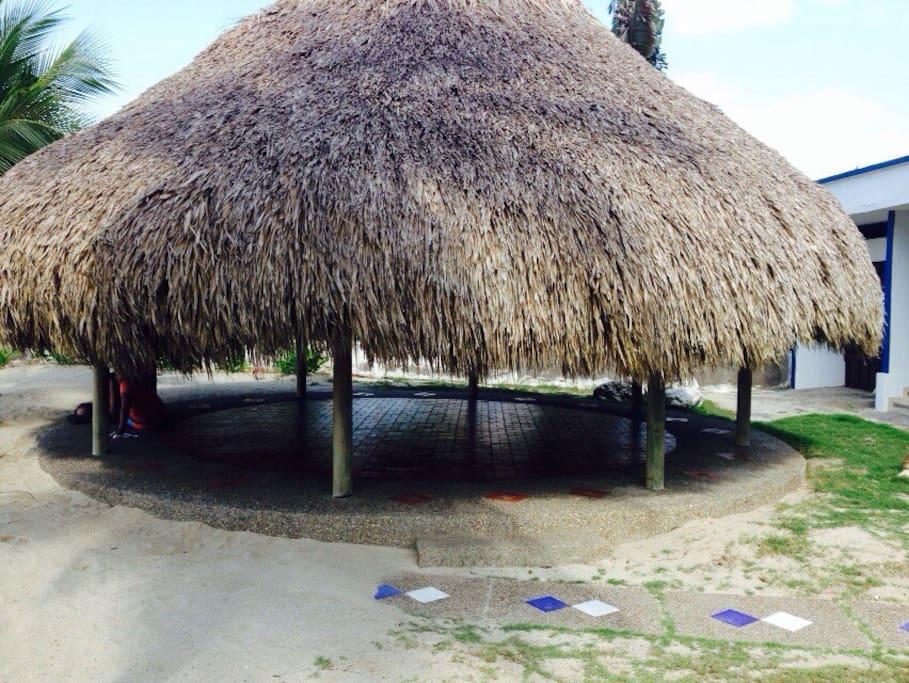 Kiosco frente a la playa