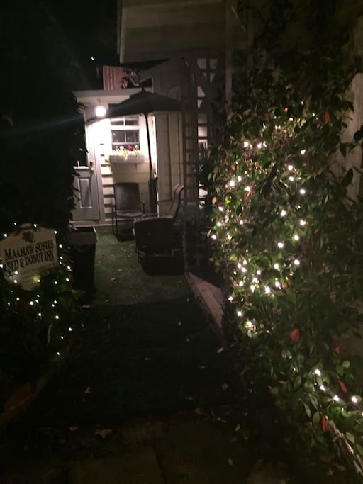 Holiday lights on your patio!
