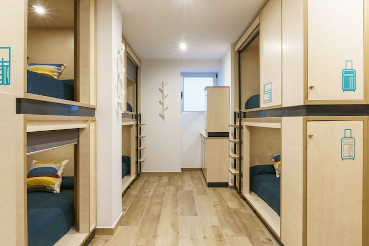 Single Bed in 10-bed Shared Dorm (Shared Bathroom)
