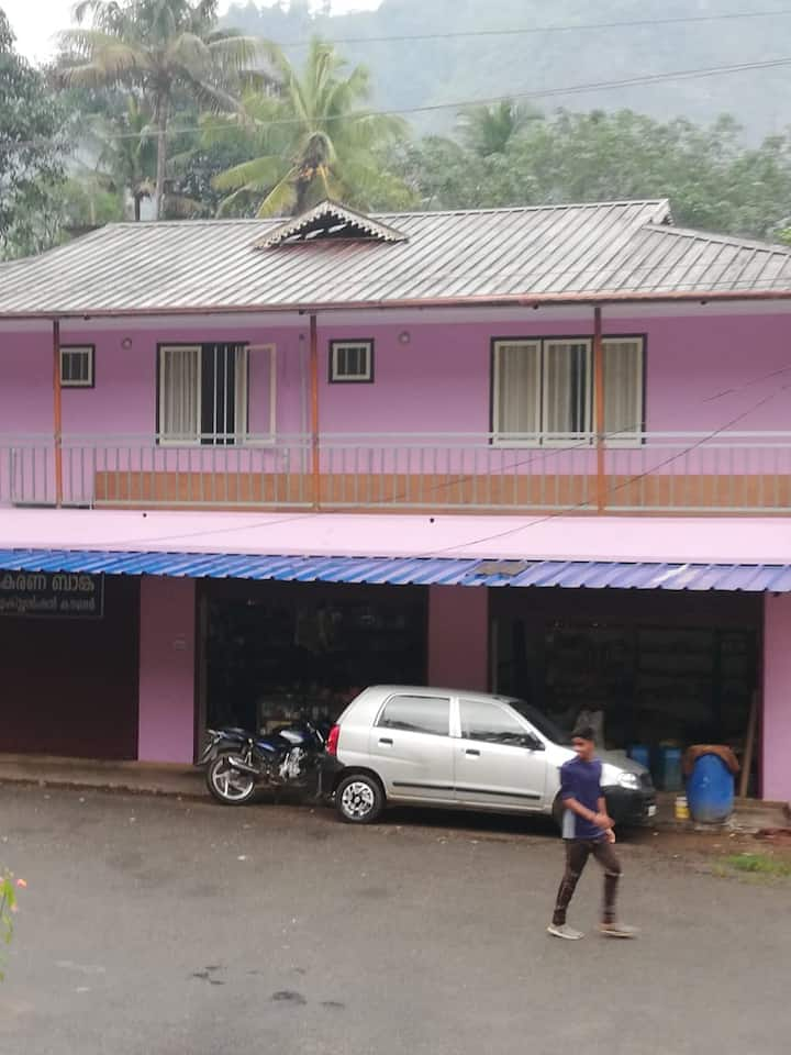Rooms with private balcony for 1250 at Anakulam