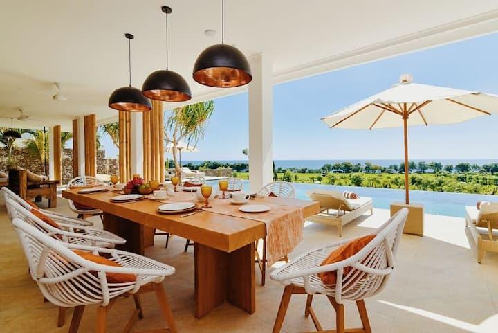 Villa L'espoir I-ocean view+20m pool+chef/butler