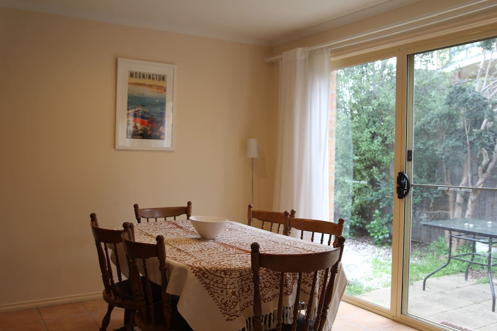 Dining room - extendable table