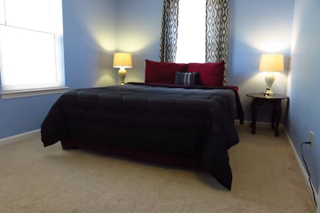 Modern Bedroom with Queen Bed+Private Bathroom! - Schwenksville