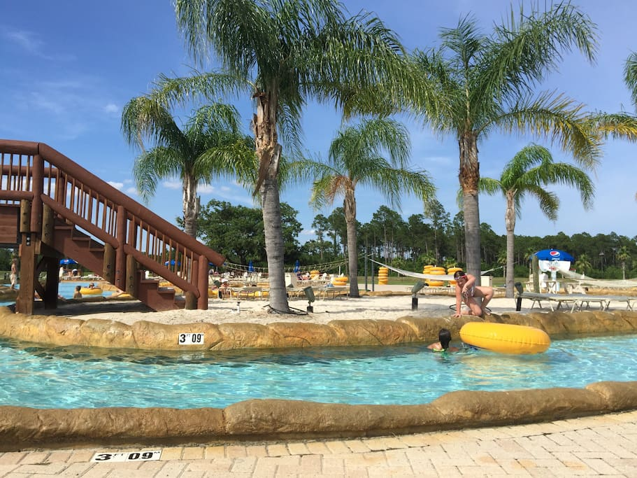 As my guest, receive free all inclusive access to The Waterpark (approx 4 miles) includes lazy river, wave pool, hammock island. Also a bar and grill onsite to purchase food and drinks.