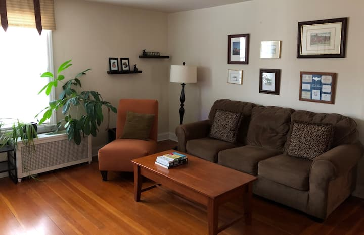 "Private & cozy ""in-law"" apt near blue line & metra"
