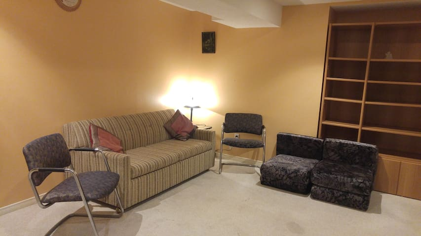 Refurbished Fully Furnished Bsmnt Apt with SofaBed