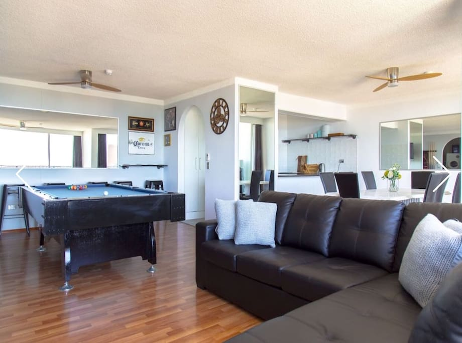Very large living area, hard to beat this homes views and conveniences!