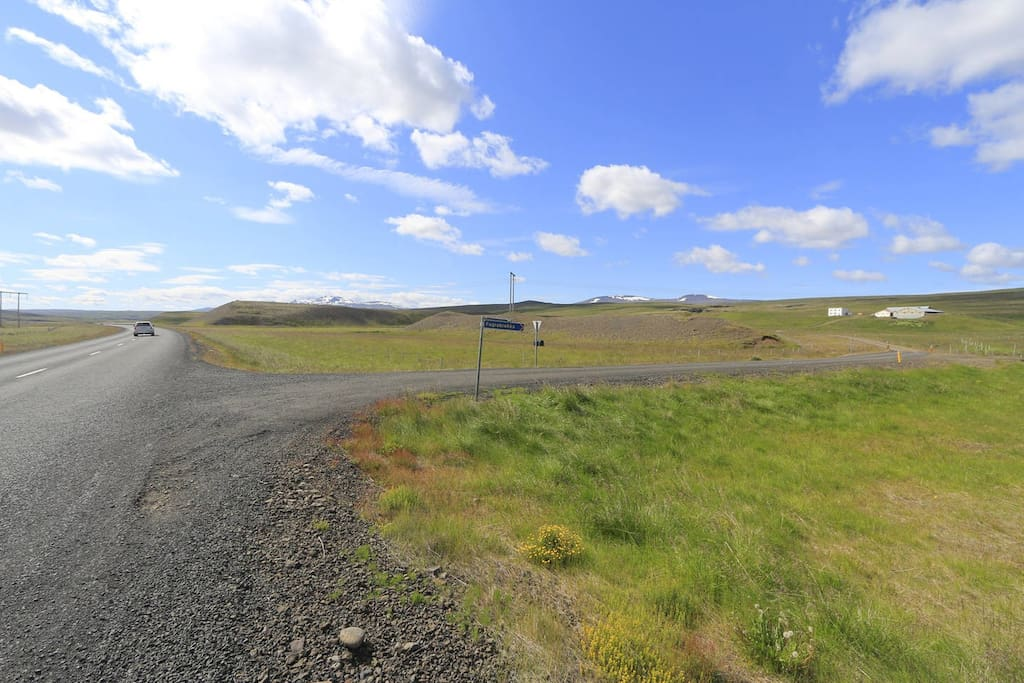 Our farm is 1 km south of N1 - Staðarskáli service station, on the main road between Reykjavik and Akureyri.