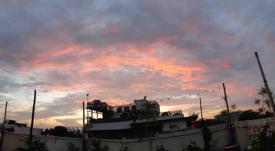 Sunsets,Terace,Plants,2BR,Kitchn,balcony,Reviews:)