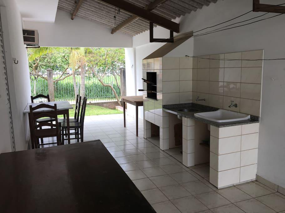 Varanda e churrasqueira - Casa nº3