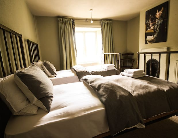 The Culm Valley Inn, our funky twin room no.5 - Culmstock