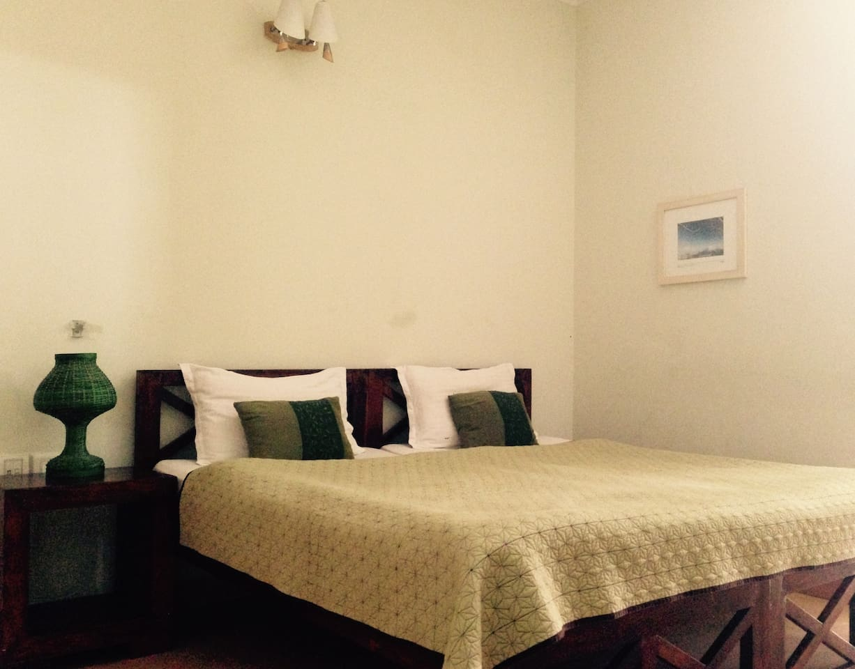 It's a nice room on the GF with a twin bed. It opens up to large space at the back.