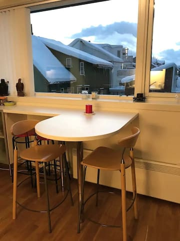 Eating area with a view