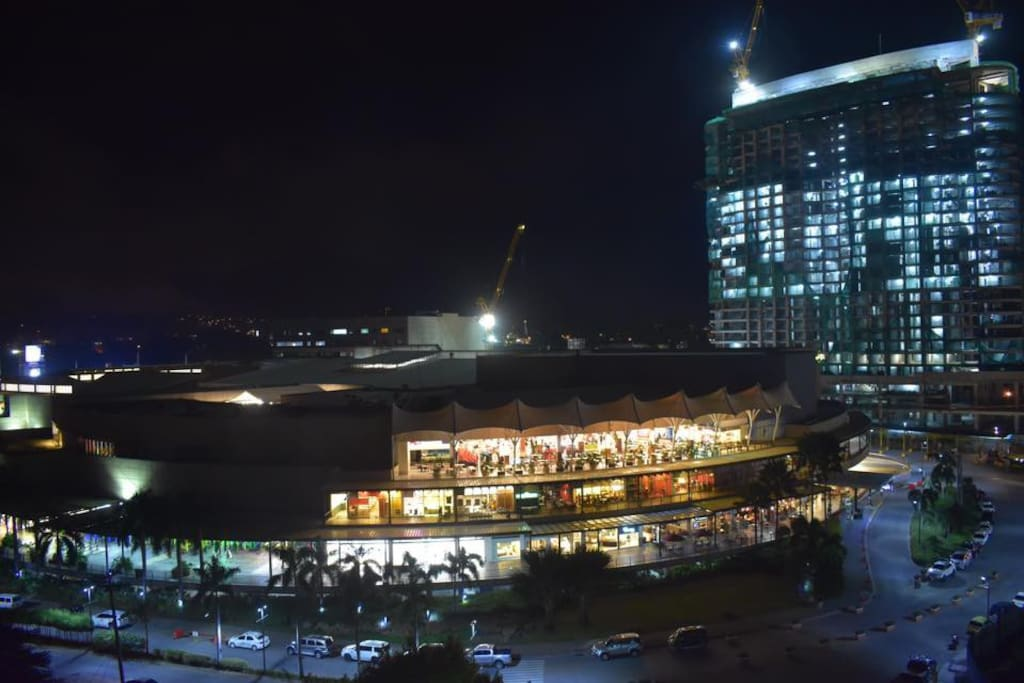 bedroom window view: Abreeza mall restaurants side