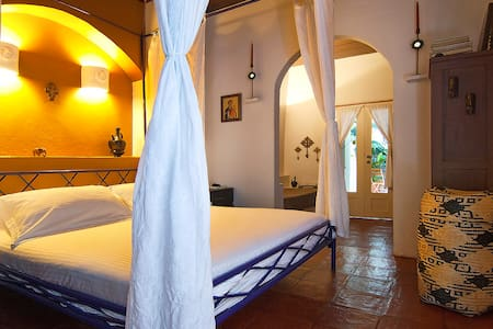 Romantic guesthouse in the center 1/African Room - Cartagena de Indias