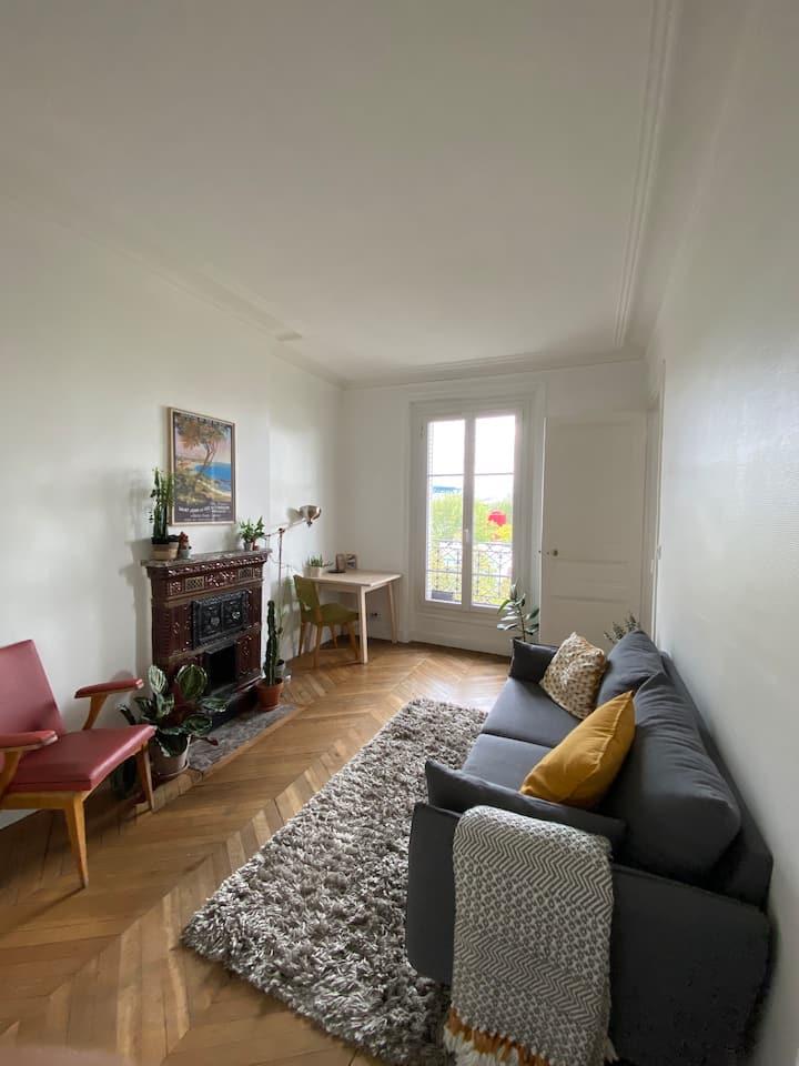 Joli appartement avec vue sur La Villette