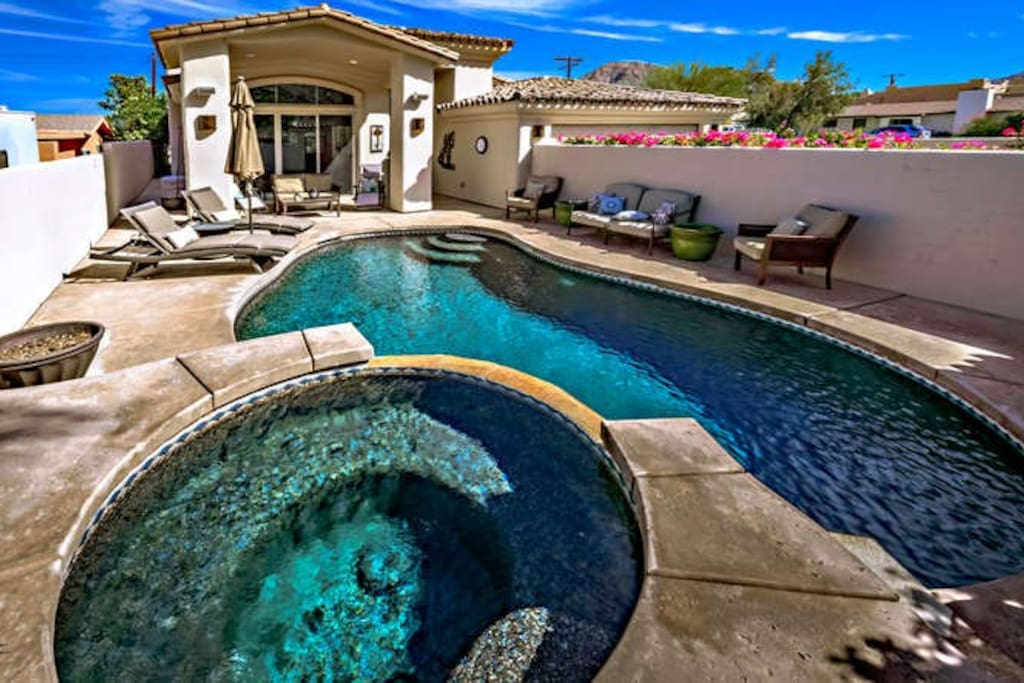 Front loaded Pool and Spa