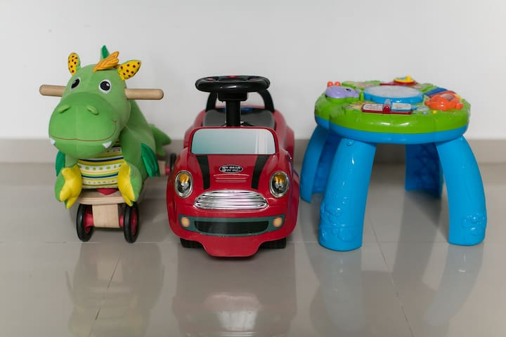 Toys aplenty are made available for your children.