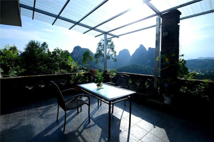 空中花园,阳朔海拔最高的观景9号房 - Guilin - Ferienunterkunft