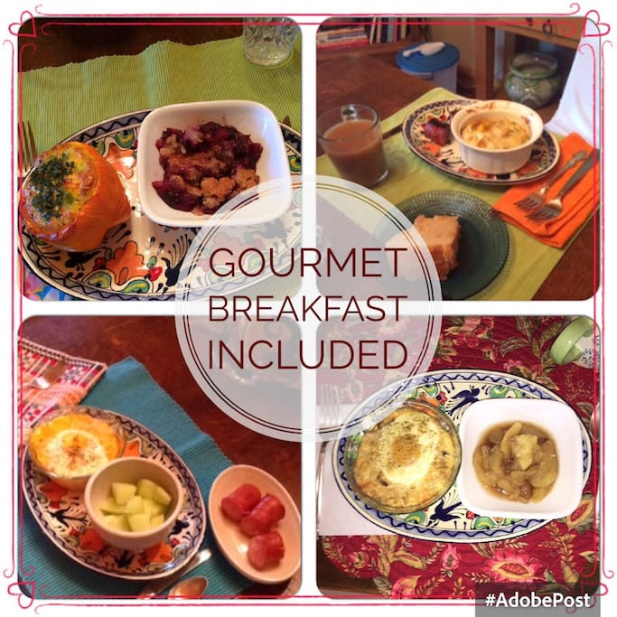 Some examples of the inclusive breakfast. Hope you love it!