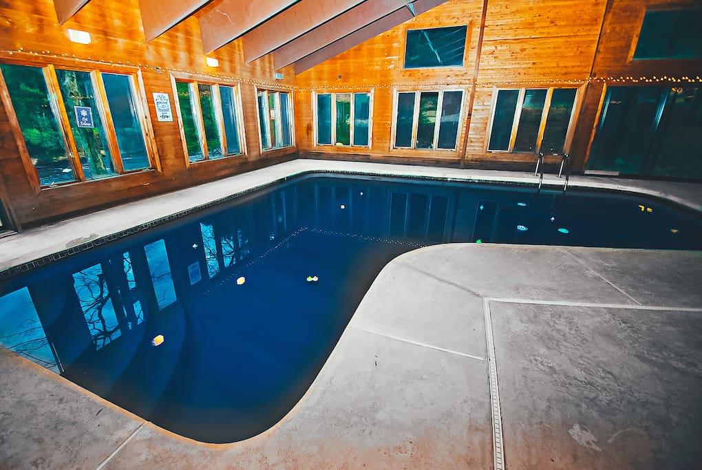 Pocono Cabin Rental Bushkill Hot Tub Indoor Pool Cabins