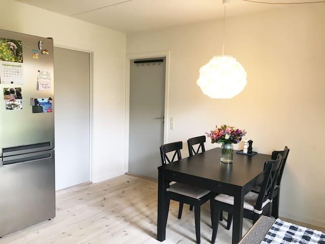 Dining area with fridge & freezer