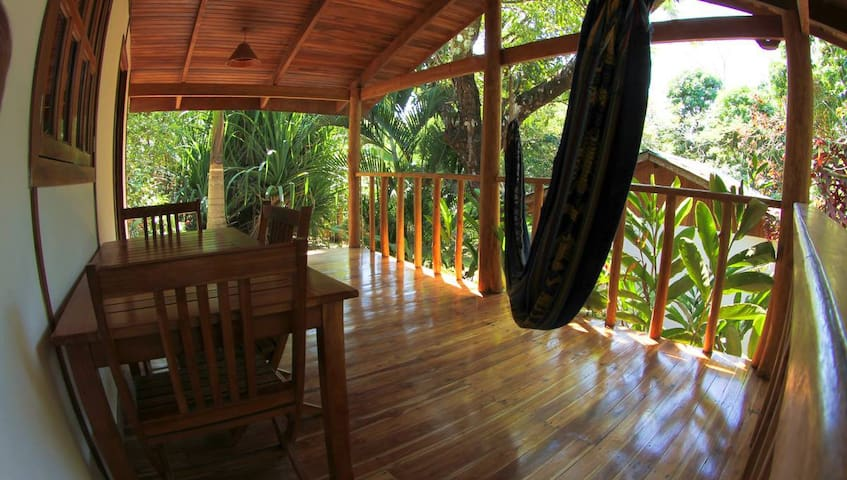 Tropical view from private porch
