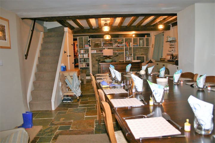 Dining table extended with special permission