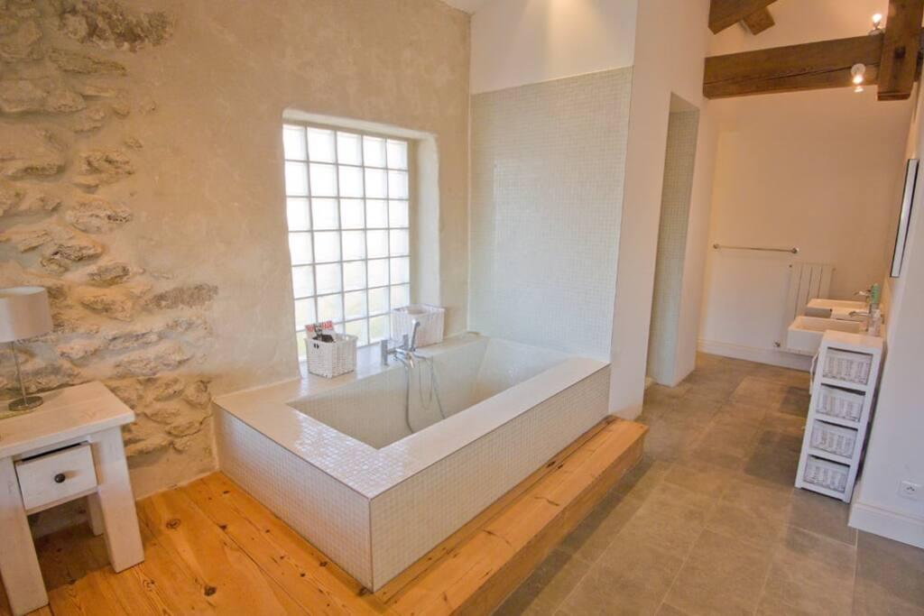 master en-suite (bath and shower)