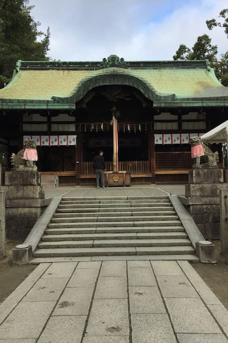 main building of ibaraki shrine