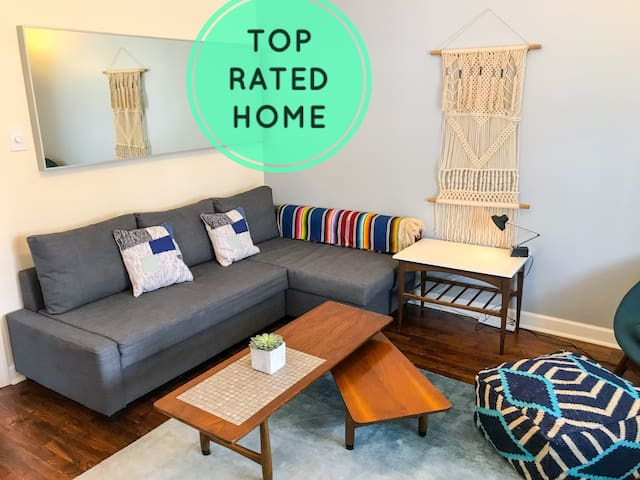 My place is the Top Rated Vacation rental in Kansas City! Check out our reviews:)