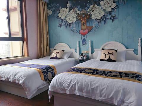 嵊泗杜家村民宿双床房11,交通便利,近基湖沙滩。