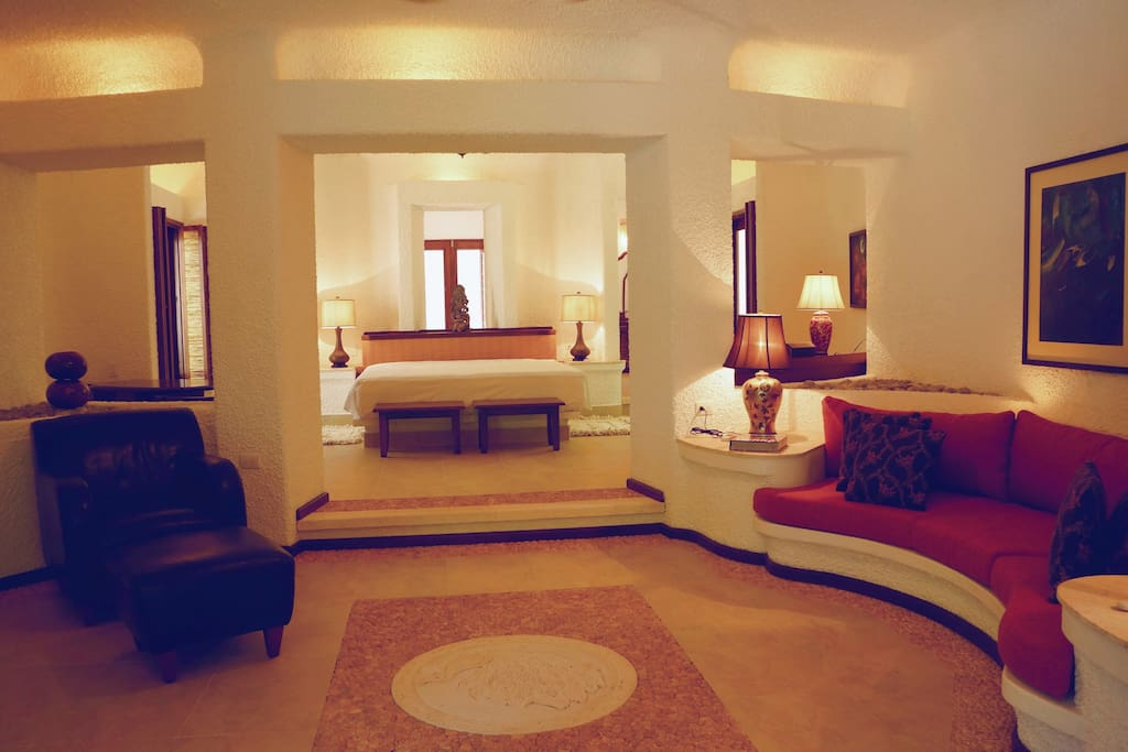 Master Bedroom Suite with living room