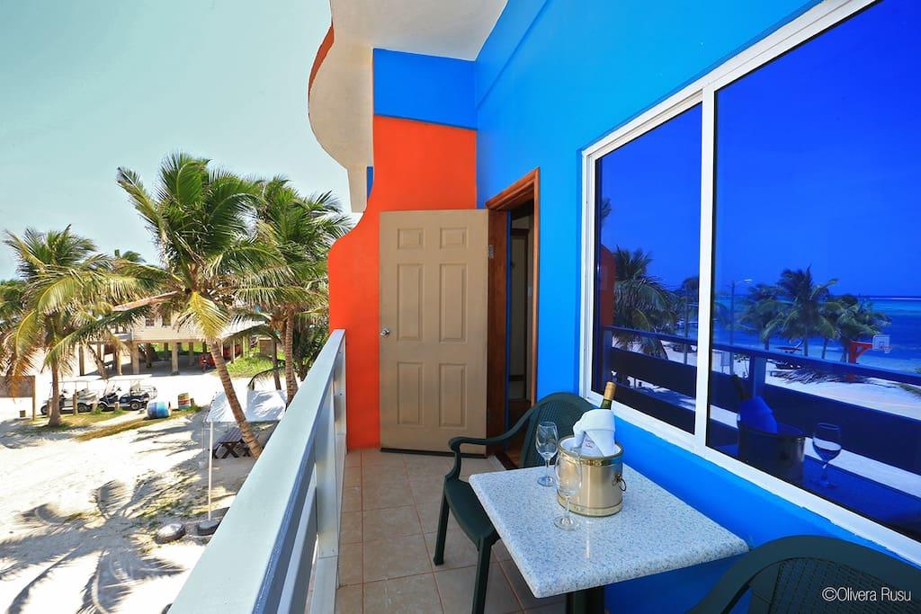 Balcony on Ocean Front room